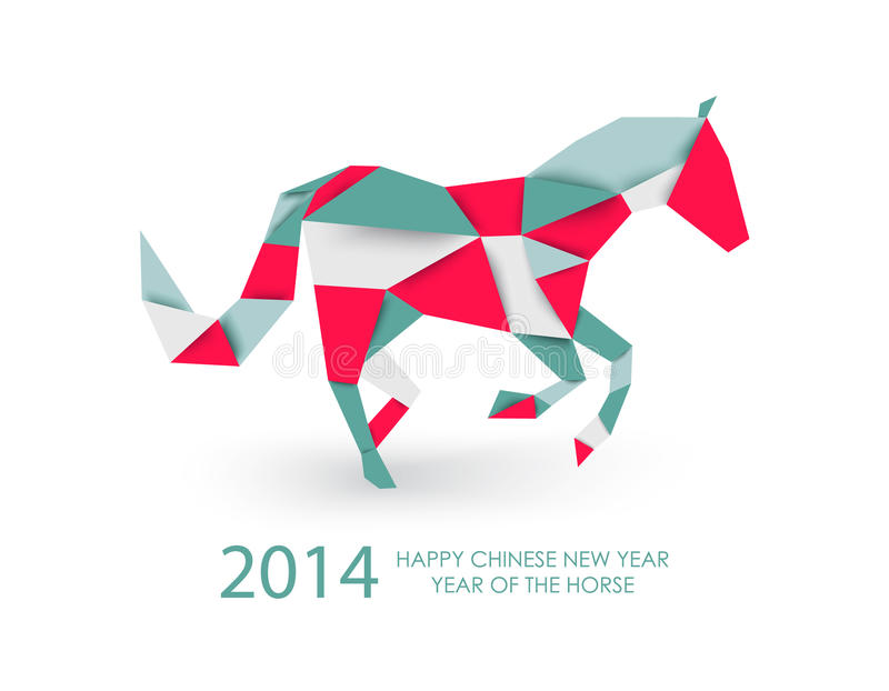 Abstract Triangle Volleyball Player Silhouette Stock: Chinese New Year Of The Horse Abstract Triangle