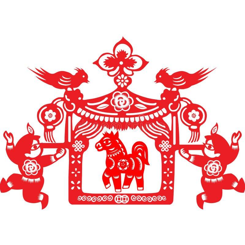 Chinese New Year Horse stock illustration. Illustration of ...