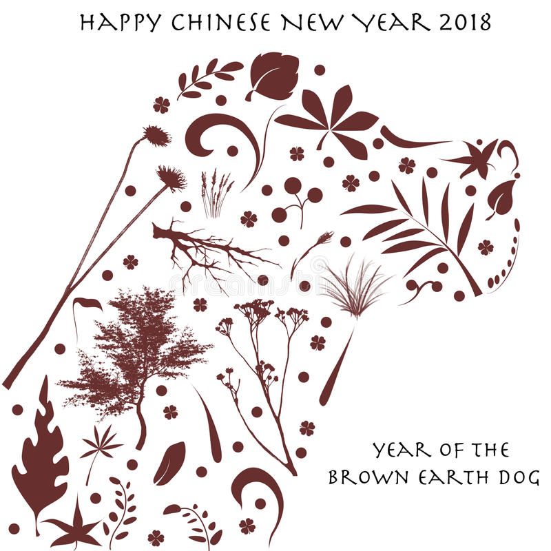 Chinese New Year 2018 vector illustration