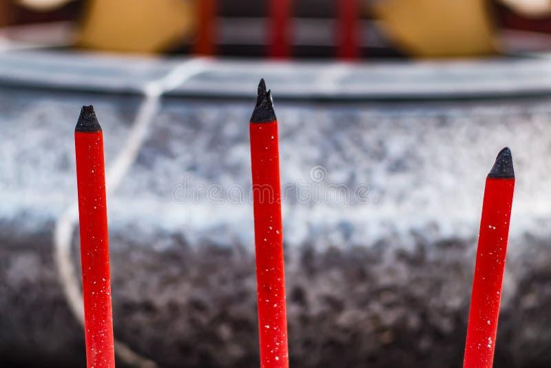 Chinese New Year, Joss Stick, red incense Pot Sacrifice God religion stock photography