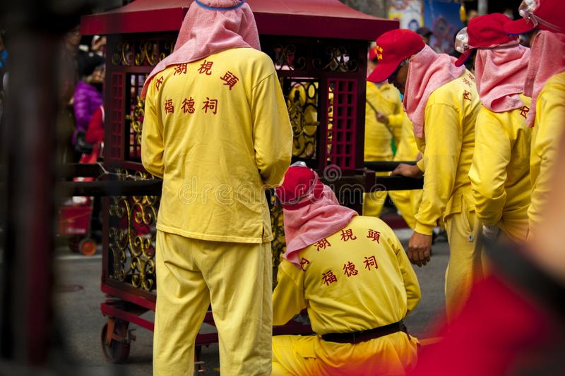 Chinese New Year, Lantern Festival, Taiwanese folk customs, blessing rituals and parades, frigid single Yeh`s parade stock image