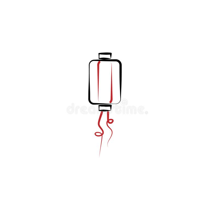 Chinese new year, lantern icon. Can be used for web, logo, mobile app, UI, UX royalty free illustration
