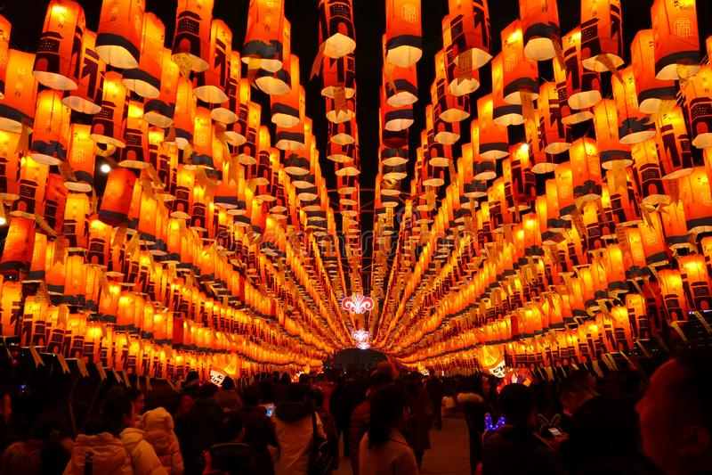 2019 Chinese new year in Xian stock images