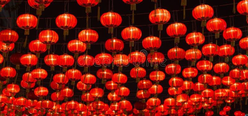 Chinese New Year Lanterns. At night scene stock photography