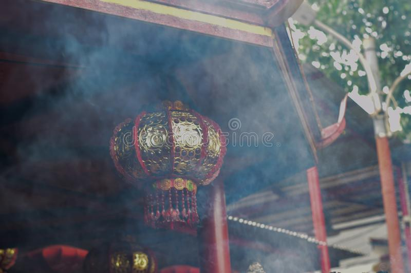 Chinese new year lanterns in chinatown at Jakarta. stock images