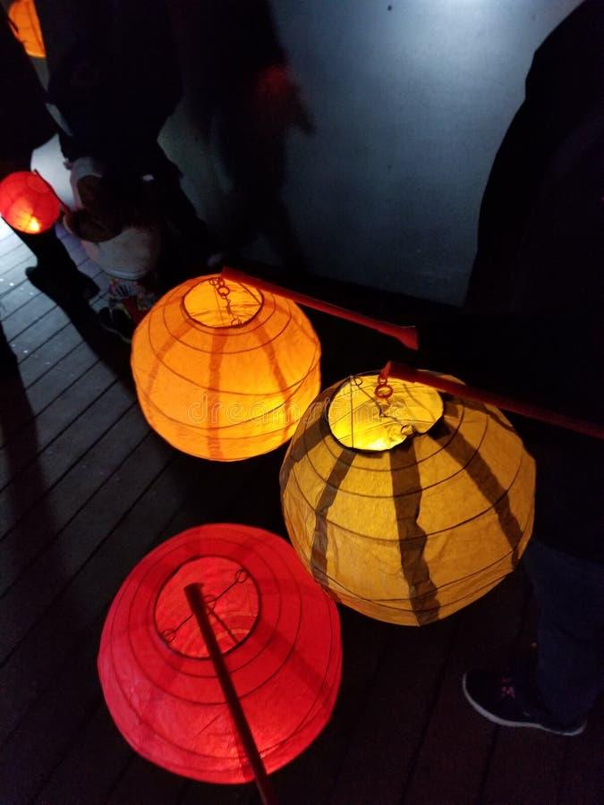 Chinese New Year Lanterns at Night. Glow, inspiring, fun royalty free stock photos