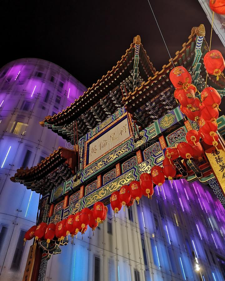 Chinese New year in London. New year in Chinatown, london royalty free stock photography
