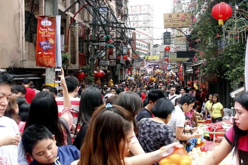 Chinese New Year in Manila Chinatown royalty free stock images