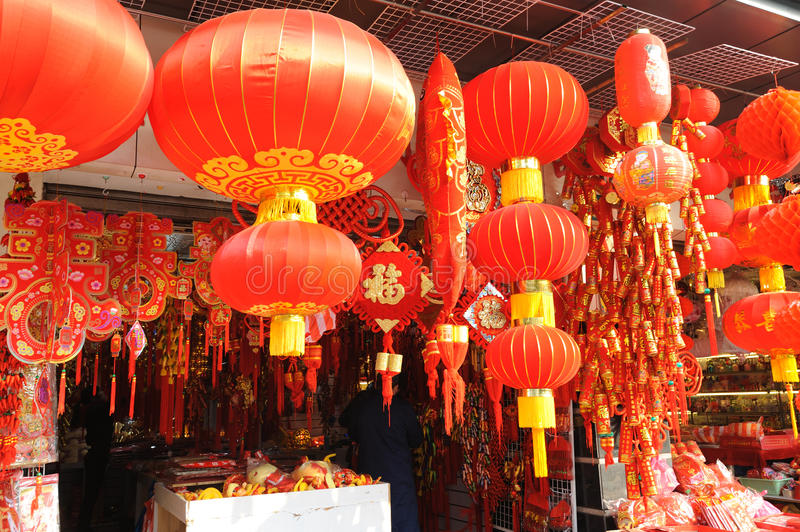 Chinese new year market in Shanghai. China royalty free stock photos