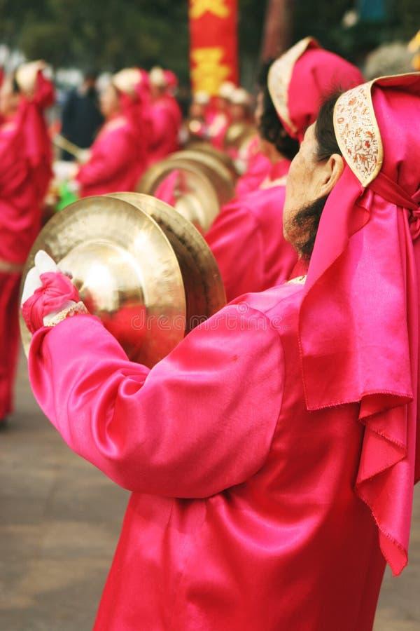 Chinese New Year music and celebrations. stock photo