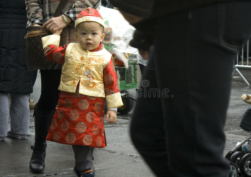 Chinese New Year; New York City royalty free stock image