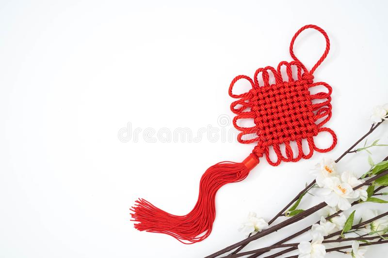 Chinese new year ornament lucky knot stock image