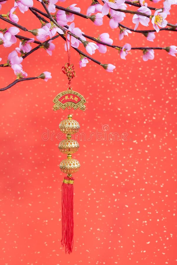 Chinese new year ornaments for decoration royalty free stock image