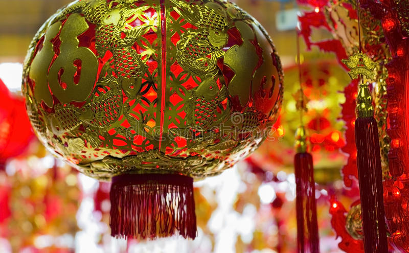Chinese New Year Ornaments stock photography