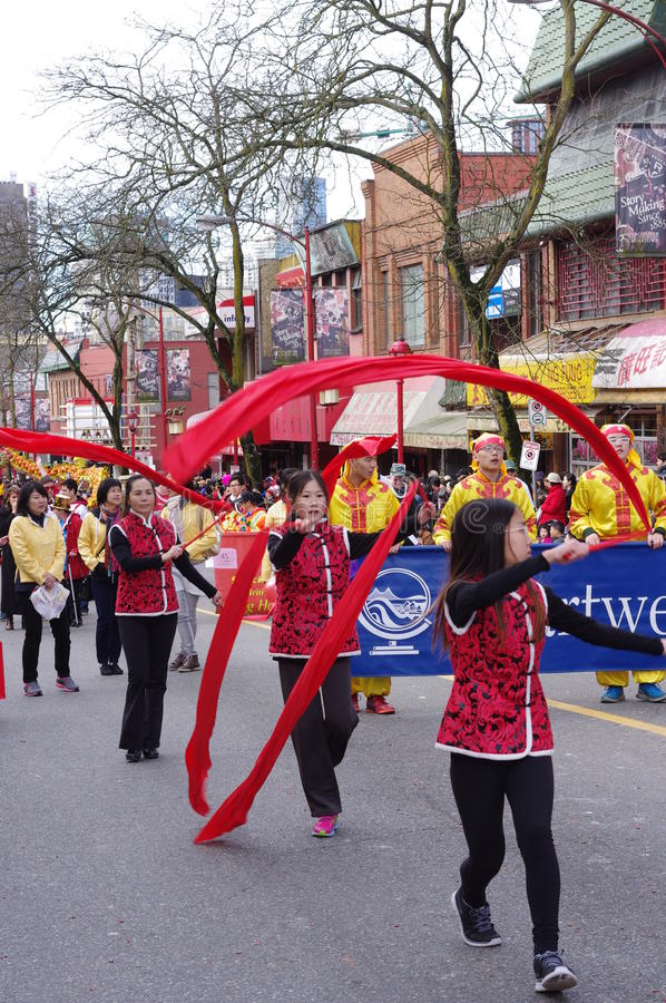 Chinese New Year parade in Vancouver stock photography
