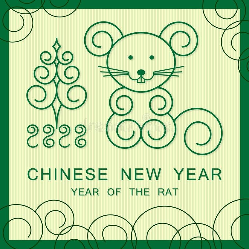 2020 Chinese New Year - Year of the Rat royalty free stock image