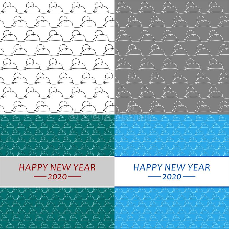 Year of the Rat illustration. Chinese new year. Year of the mouse. Vector Illustration. royalty free stock photography