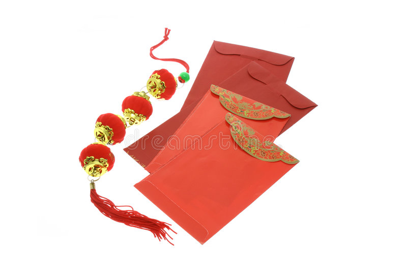 Download Chinese New Year Red Packets And Lanterns Stock Photo - Image of celebrate, greeting: 4191432
