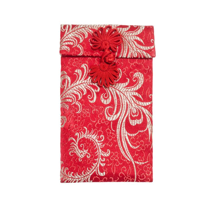 Chinese new year Red pocket. On white background stock images