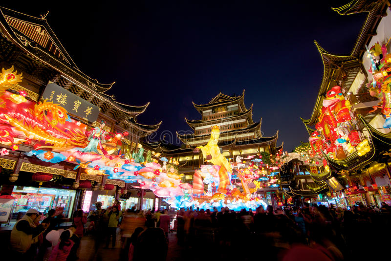 Chinese New Year In Shanghai, Year Of The Horse. Editorial ...