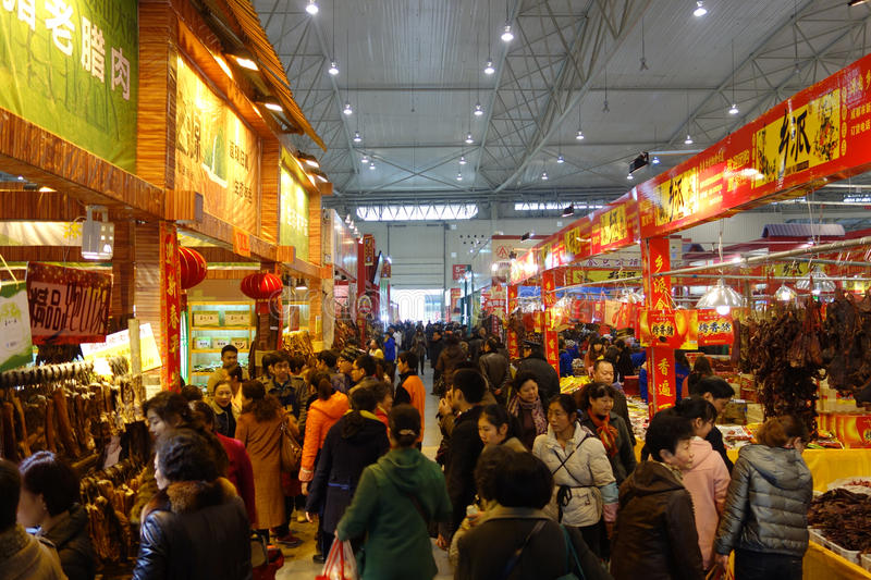 Chinese new year shopping festival in sichuan
