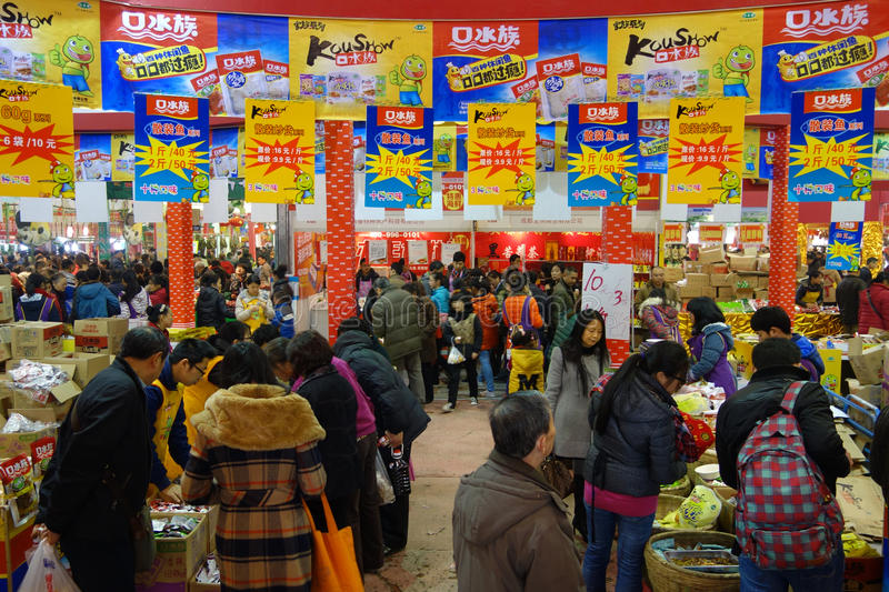 Download Chinese New Year Shopping Festival In Sichuan Editorial Stock Image - Image: 28937194