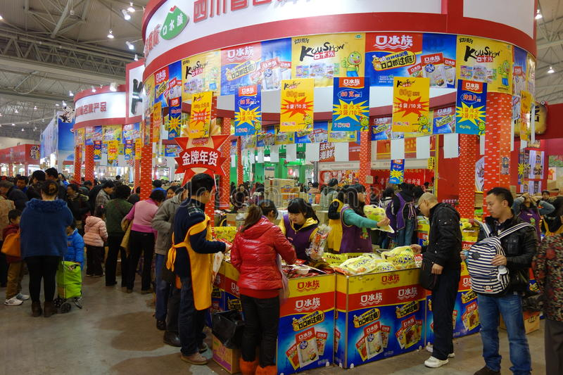 Download Chinese New Year Shopping Festival In Sichuan Editorial Stock Image - Image: 28937804