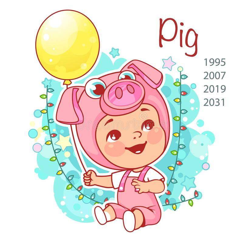 Chinese new year symbol. stock illustration