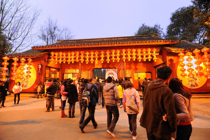 Download Chinese New Year Temple Fair In Chengdu Editorial Image - Image: 18395825