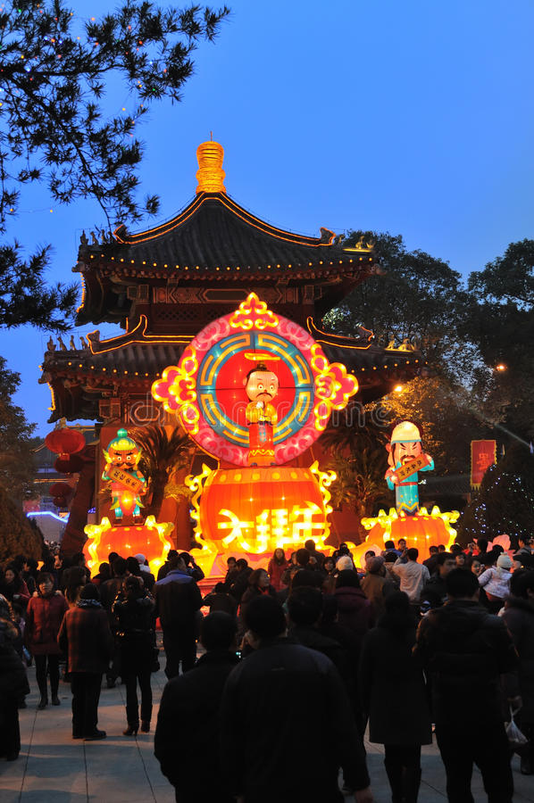 Chinese New Year Temple Fair in chengdu