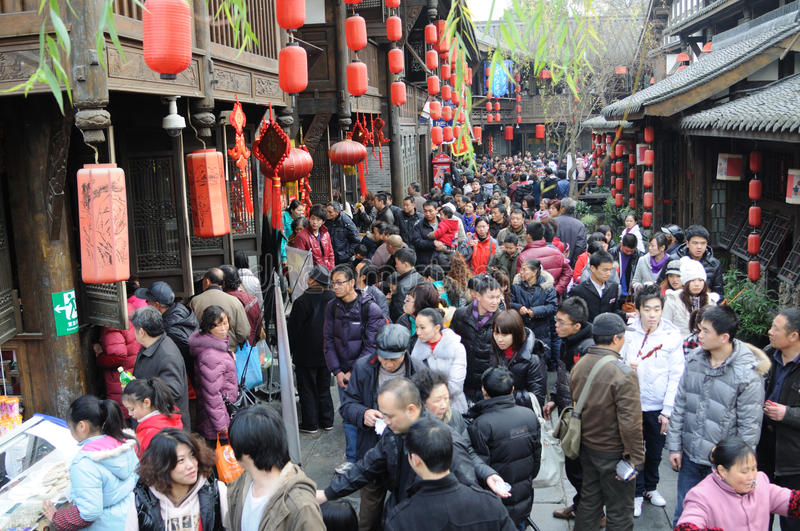 Download Chinese New Year Temple Fair In Jinli Editorial Stock Photo - Image: 18339583