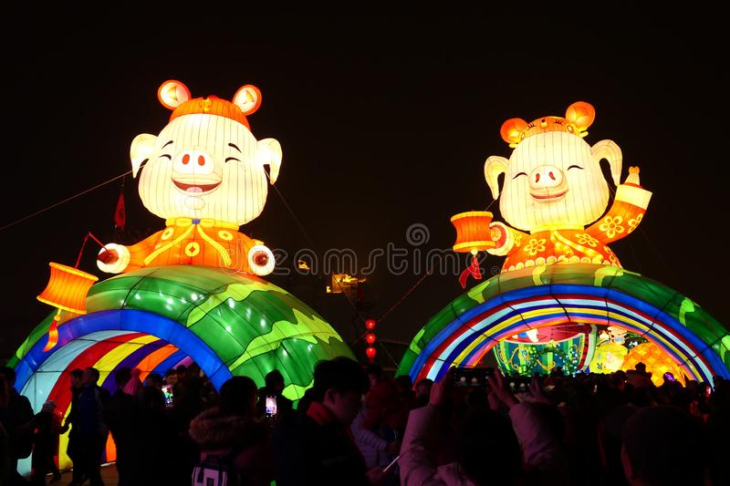 2019 Chinese new year in Xian royalty free stock images