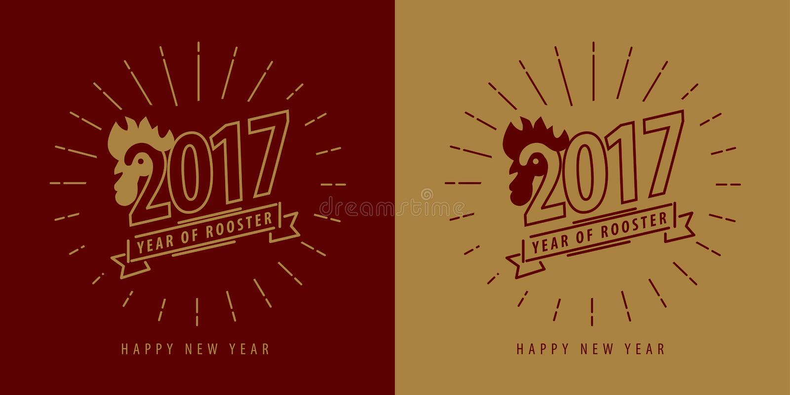 Chinese new year 2017, Year of rooster symbol. vector illustration
