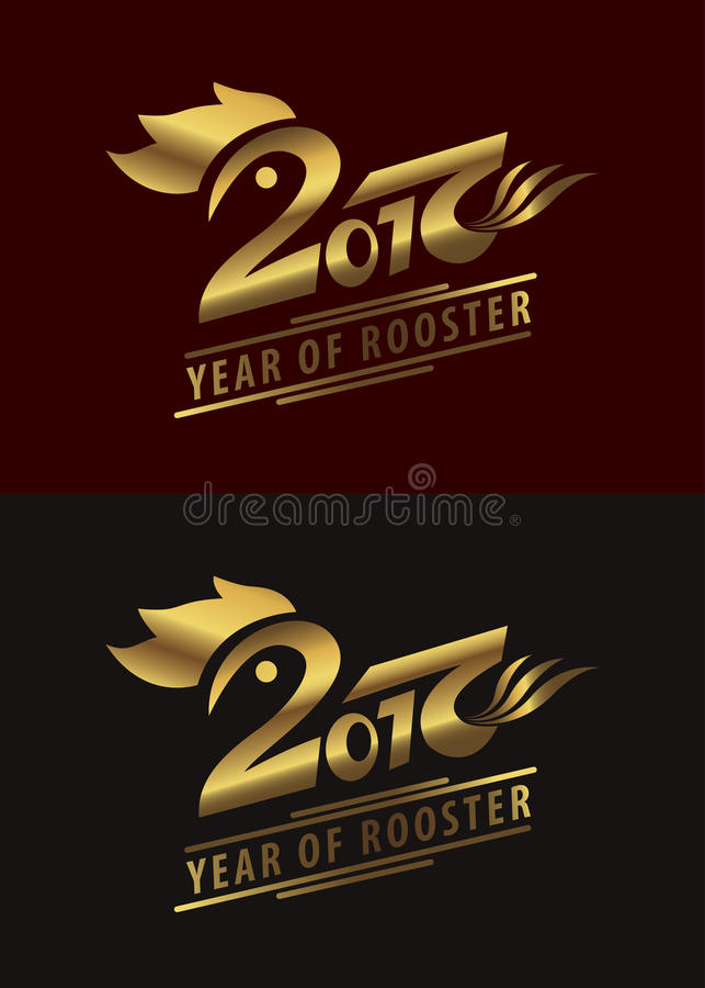 Chinese new year 2017, Year of rooster symbol. royalty free illustration