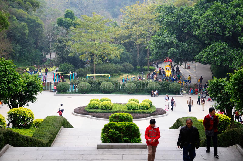 Before the Chinese New Year of the Yuexiu park scenery stock photo