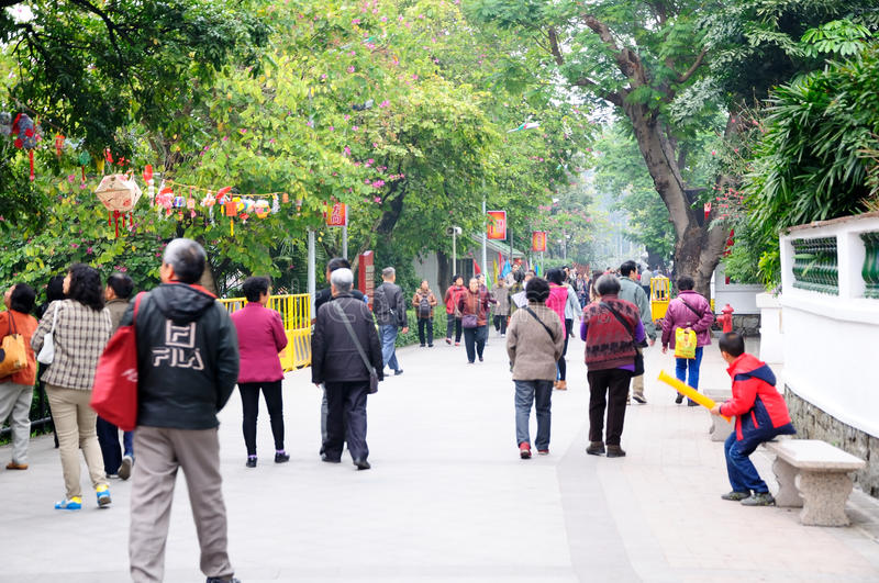 Before the Chinese New Year of the Yuexiu park scenery royalty free stock image