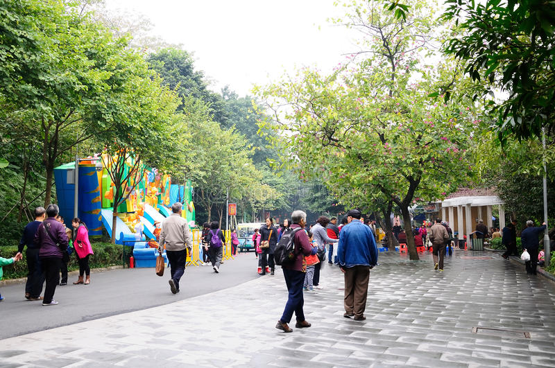Before the Chinese New Year of the Yuexiu park scenery stock photography