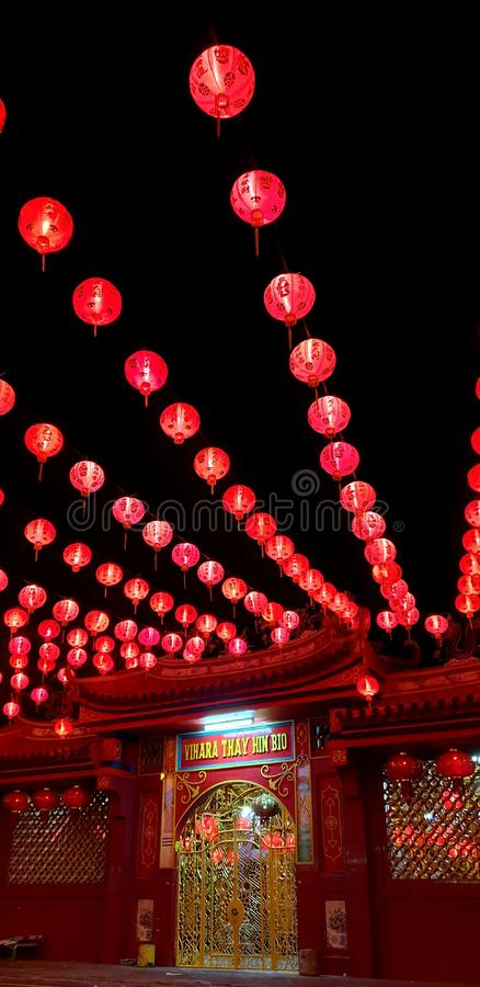 Chinese new years at midnight town. Chinese new years in midnight stock images