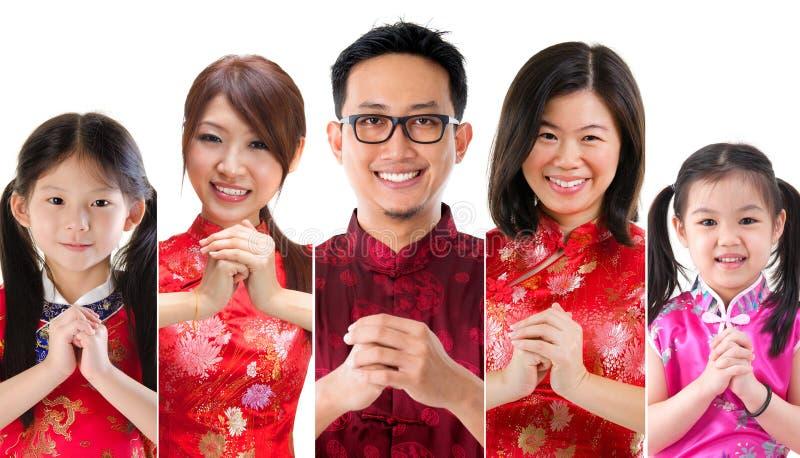 Chinese nieuwe jaarmensen stock foto's