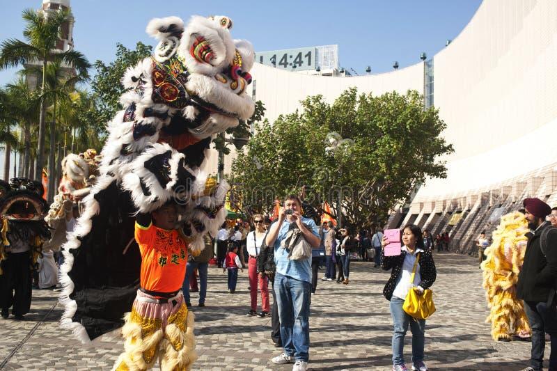 Chinese nieuwe jaarparade in tsui van tsimsha royalty-vrije stock foto's