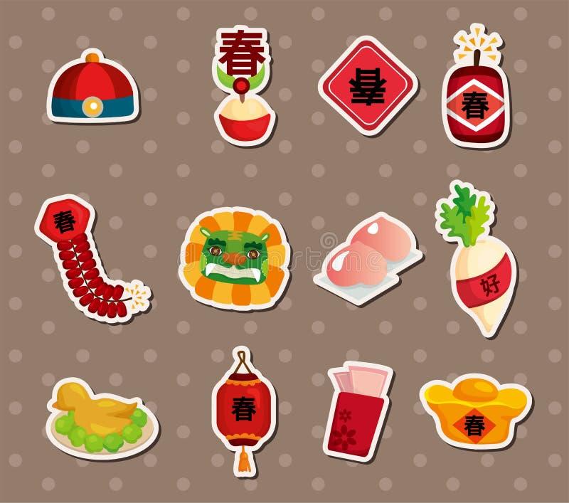 Chinese nieuwe jaarstickers royalty-vrije illustratie