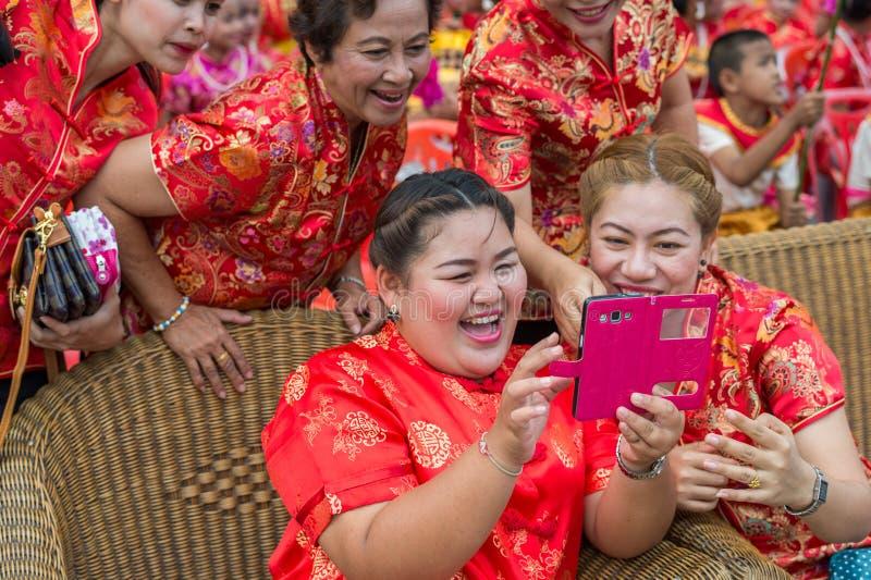 Chinese nieuwe jaarviering in Thailand royalty-vrije stock afbeelding