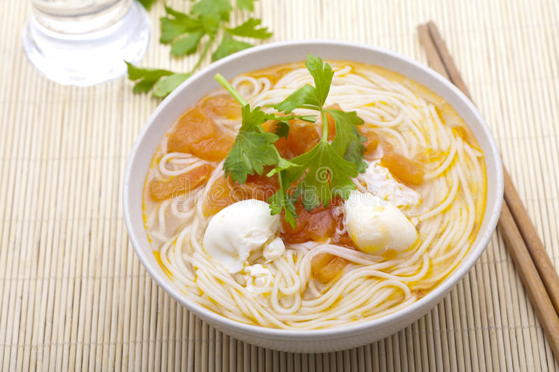 Chinese Noodle Soup Royalty Free Stock Photography