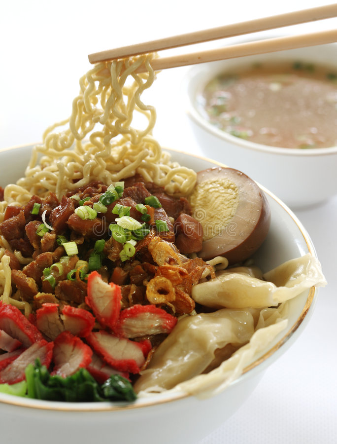 Free Chinese Noodle Soup Royalty Free Stock Photo - 5091165