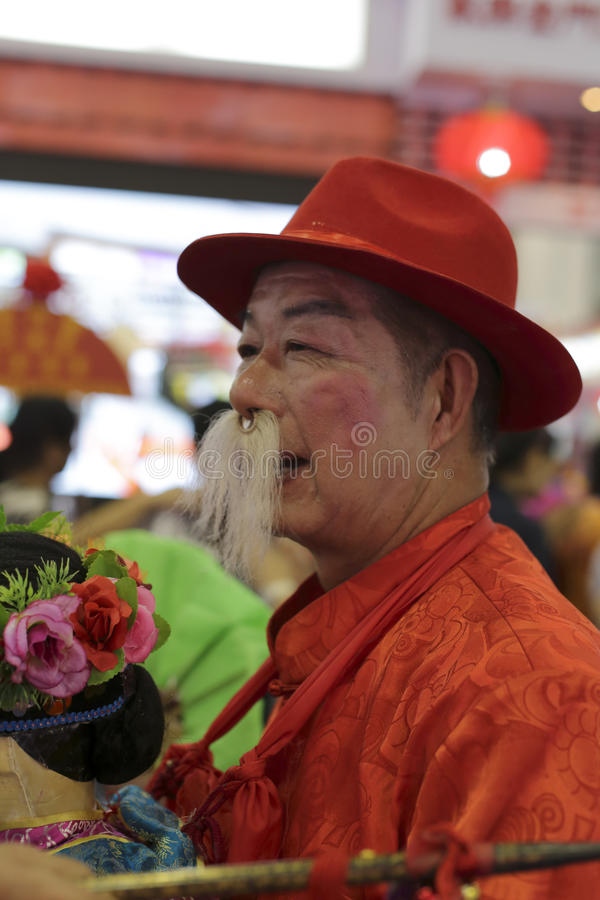 Chinese old farmer in the holiday royalty free stock photos