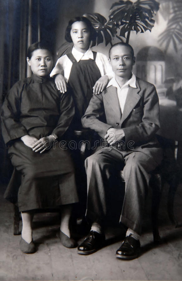 Chinese old photo royalty free stock images