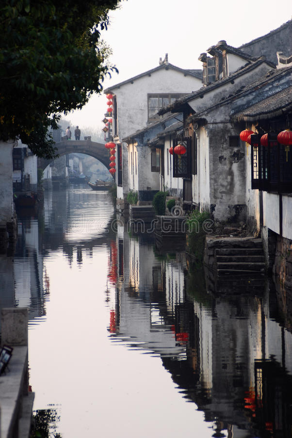 Chinese old water towm royalty free stock photos