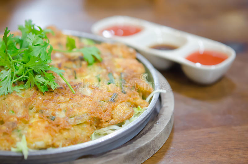 Chinese omelet stock images