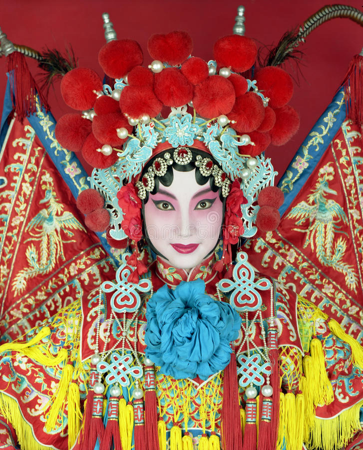 Chinese opera. Traditional Beijing opera actress in traditional costume