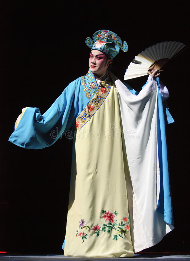 Chinese opera actor. Perform on stage royalty free stock image